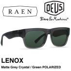 【日本正規品】 RAEN レーン サングラス DEUS EX MACHINA デウスエクスマキナ コラボ LENOX - Matte Grey Crystal / Green POLARIZED