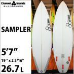 """ショートボード CHANNEL ISLANDS チャンネルアイランズサーフボード SAMPLER 5'7"""" サンプラー"""