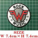 ウィーザー Weezer 丸型ロゴ アイロン ワッペン パッチ 音楽 ロック ミュージシャン オルタナティヴ パワー ポップ リペア カスタム 1023