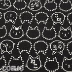 [AB7] コスモ 福福もっちり和柄なネコ E黒  10cm  AP-05907-2  ドビー生地