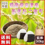 ショッピング玄米 あきたこまち 30kg 新米 福島県産 お米 米 29年産 送料無料 『29年福島県会津産あきたこまち玄米30kg』