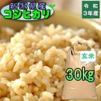 米 30kg コシヒカリ 玄米 お米 2年産 新潟県産 送料無料  『令和2年新潟県産コシヒカリ玄米30kg』