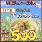 送料無料1kお試しメール便 『28年福島県産天のつぶ白米1kg』(2016 平成28年)産