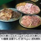 ショッピング肉 肉 牛肉 豚肉 鶏肉 焼肉セット 盛り バーベキュー ハラミ bbq 40人前 10種類 総重量14kgセット 商番813