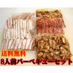 商番812 8人前バーベキュー・お肉セット 約2.5kg タレ・箸・紙皿付