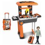 キャリーバックタイプ デラックスツールセット おもちゃ工具セット 子供用工具セット ままごと工具