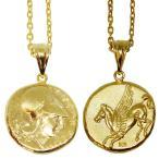 Silver925 古代ギリシャレプリカコインネックレス 18金コーティング