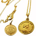 18金ネックレス エリザベスコイン ネックレス K18コインネックレス