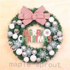 全品で christmasクリスマスリース玄関飾り ドア飾りリボン クリスマス飾り  おしゃれ 60cm  壁掛け 店舗用 法人用  装飾 玄関や壁がおしゃれに