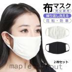マスク 大人用 2枚入り 布マスク 洗える ウレタンマスク 立体マスク 予防 花粉 かぜ ウイルス 快適マスク ms-018