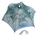 12穴 6角網 大型 八ツ手 軽量、コンパクト収納 折り畳み式 92cm エビ、カニや小魚 大漁捕穫