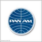 デカール ステッカー 耐UV 耐水 #059 PANAM パンナム パンアメリカ航空 サークル 白縁 [ アメリカン雑貨 / メール便可 ]