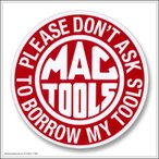 デカール ステッカー 耐UV 耐水 #060 MAC TOOLS サークル [ アメリカン雑貨 / メール便可 ]