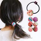 エスニック ヘアゴム くるみボタン ファッション アジアン 雑貨 民族 ブレスレット ゴム アフリカン カンガ柄 30代 40代 50代(0)