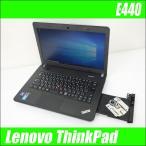 ショッピング中古 中古ノートパソコン Windows10-Pro | Lenovo ThinkPad E440 | コアi3(2.40GHz)搭載 メモリ4GB HDD500GB DVDスーパーマルチ WPSオフィス付き 中古パソコン