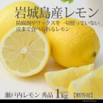 レモン 秀品 1kg 果汁たっぷりレモンノーワックス  贈答 ギフト 産地直送