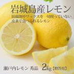 瀬戸内レモン (秀品)2kg 【贈答】 ハウス栽培 いわぎレモン 防腐剤・ワックスなし 国産生レモン