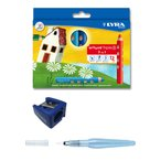 色鉛筆 グルーブトリプルワン 12色+ シャープナー・ぺんてる水筆付きセット