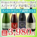 スパークリングワインセット 送料無料 1本あたり995円 スパークリング満喫4本セット シャンパン製法カヴァ入り 酒類