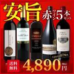 ショッピングセット ワインセット 安旨赤ワイン5本セット コスパ抜群  スペイン ポルトガル 南アフリカ産赤ワイン