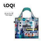 ショッピングエコ エコバッグ バッグ レディース 折り畳み おりたたみ 買物バッグ ショッピングバッグ トートバッグ サブバッグ LOQI ローキー LOQI-BAG-2