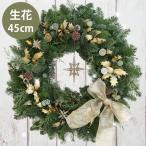 ショッピングクリスマスリース クリスマスリース オレゴンスターリース・生 45cm┃クリスマスリース 玄関 おしゃれ ギフト