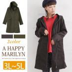 ショッピングモッズ 3L〜 大きいサイズ レディース コート モッズコート 長袖 フードデザイン ライトアウター 春 30代 40代 ファッション