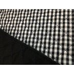 キルティング(黒×チェック) 入園準備/入学準備/ハンドメイド/裁縫/布/絵本バック/キルト