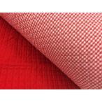 キルティング(赤×チェック) 入園準備/入学準備/ファブリック/生地/布/裁縫/ハンドメイド/キルト