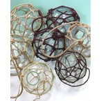 穴あきガラス浮玉NO.10(32cm) 大きなサイズ ガラス玉