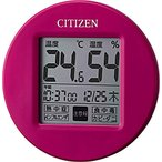CITIZEN 高精度温度湿度計・時計付 ポップなカラーで小型のモデル ライフナビプチA 8RD203-A13