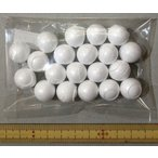 【メール便可】 発泡スチロール芯 球 直径約15mm 20個入り 【玉 ボール 手芸材料】