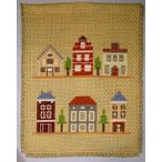マリヤオリジナルクロスステッチ刺繍セット「北欧の家並」