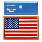 星条旗 ワッペン アメリカ国旗 M-OR
