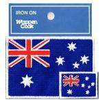 ワッペン国旗 オーストラリア SS+M 2Pセット