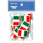 小さいサイズ イタリア ミニ 国旗 ワッペン SSS 10枚