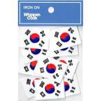 韓国国旗 ワッペン SS 10枚 ミニワッペン