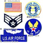 ショッピングワッペン アメリカ空軍 ミリタリーワッペン エンブレム 米空軍 セット