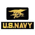 アメリカ軍 ミリタリーワッペン NAVY SEALs+NAVYタブ2Pセット