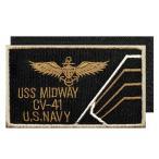 アメリカ軍 ミリタリー ワッペン 米海軍士官エンブレムL