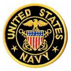 アメリカ軍 ミリタリーワッペン 米海軍士官エンブレムM