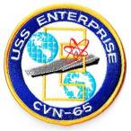 アメリカ軍 ミリタリーワッペン 米海軍USS ENTERPRISE丸型