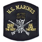 アメリカ海兵隊 ミリタリーパッチ USMC スカルパッチ ワッペン