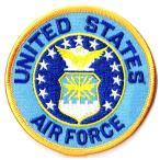 アメリカ空軍 ミリタリーワッペン USAF エンブレム丸型