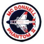 アメリカ空軍 ミリタリーワッペン USAF F-4ファントム丸型