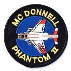 アメリカ空軍 ミリタリーワッペン USAF F-4ファントム丸型フルカラー