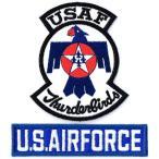 ショッピングワッペン アメリカ空軍 ミリタリーパッチ サンダ−バーズ+USAFタブ2Pセット