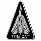 アメリカ海軍 ミリタリーパッチ F-14TOMCAT ワッペン 三角