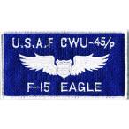 アメリカ空軍 ミリタリー ワッペン USAF F15イーグル角型