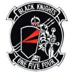 アメリカ海軍 ミリタリーパッチ VF-154 BLACKKIGHTS-Y2K エンブレムワッペン